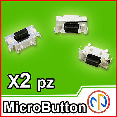 2X Micro pulsante SMD 3x6x3.5 Push tactile Button NA ricambio tablet,computer