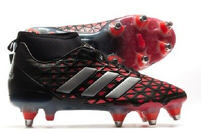 adidas Kakari Force SG Black Shock Red Rugby Boots Sizes UK 8 - 12 AQ2047