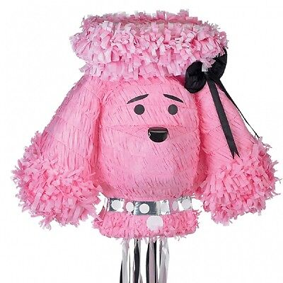 Pink Poodle Pull Pinata - Party games Girls parties