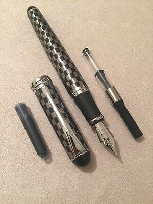 Jinhao X750 Checkerboard Fountain Pen-M Nib-Converter-Ink Cartridge-Uk-Seller
