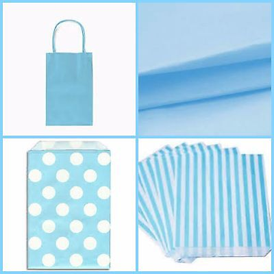 Baby shower Pale Blue Bags and Accessories, Decorations for a boy, you choose