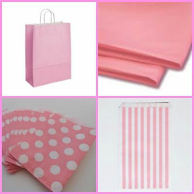 Baby shower Pale Pink Bags and Accessories, Decorations for a Girl  you choose