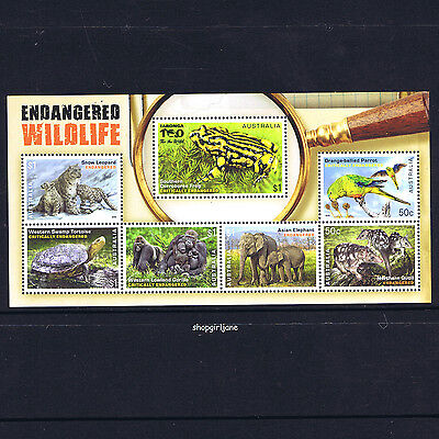 2016 - Australia - Endangered Wildlife mini-sheet - MNH