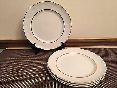 """Alfred Meakin """"PERFECTION GOLD"""" ~ Set of 4 ~ Dinner Plates ~ 10"""""""