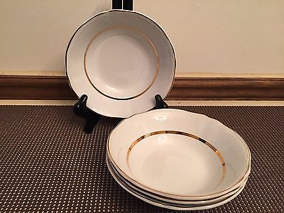 """Alfred Meakin """"PERFECTION GOLD"""" ~ Set of 4 ~ Soup Bowls ~ 6 1/2"""""""