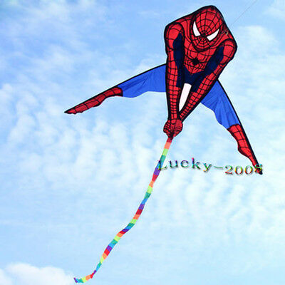 HOT SALE 90x135cm Spiderman Kite Single Line Outdoor fun Sports Toys for kids