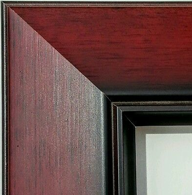 **SALE** 36 ft - Wide Cherry Fade Picture Frame Moulding, Wood, Reverse Profile