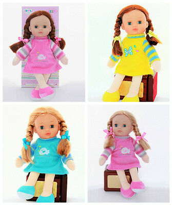 "12"" Lovely Rag Doll Traditional Girls Soft Cuddly Toy Xmas Gift Present ID1209"
