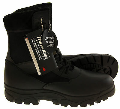 Mens Leather THINSULATE Military Work Rugged Storng Grippy Boots Shoes Size 6-13