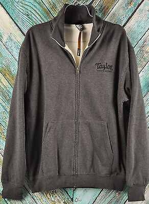 OFFICIAL New! Taylor Guitars SHERPA LINED JACKET Charcoal Gray Jersey Zip up