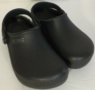 8e5221ad2 SKECHERS BOBS CROC Like SLIP-ON SHOES CLOGS BLACK Youth 2 3 Childrens Clog  Crocs