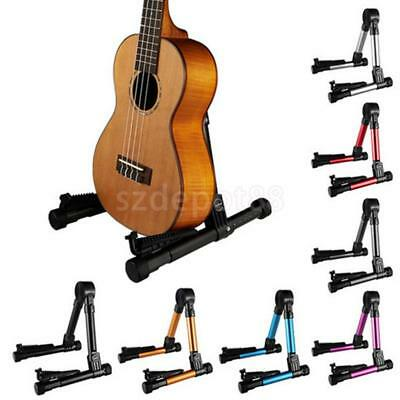 Foldable Aluminum Alloy Display Stand Support for Guitar Bass Ukulele Violin