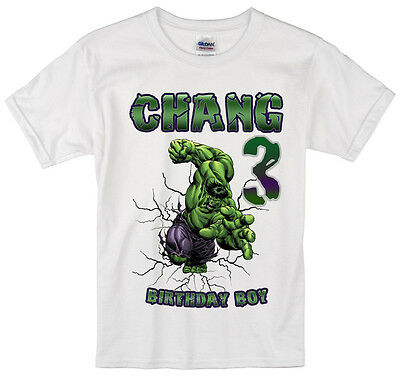 Custom Personalized Incredible Hulk Birthday T-Shirt or Creeper