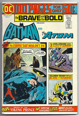 (1974) The Brave And The Bold #115 Dc 100-Page Super Spectacular Batman! Atom!