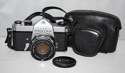 Asahi Pentax SL - 35mm SLR Camera with Super-Takumar 55mm f/2.0 Lens and Case