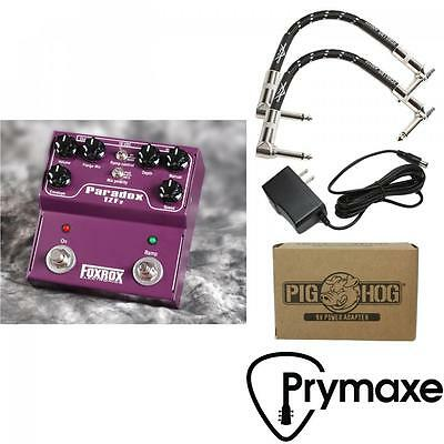 Foxrox Electronics Paradox TZF2 Flanger W/ Fender Cables & Power Supply