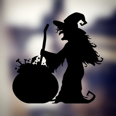 Spooky Witch Cooking Spell Halloween Home/Window/Wall/Car/ Vinyl Decal Sticker