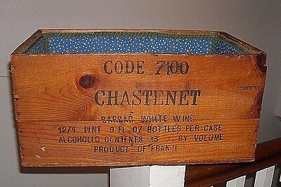 Freres Chastenet Bordeaux Champagne Wood Advertising Box France