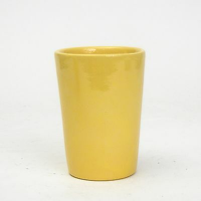 Catalina Island Pottery Yellow on White Clay Tumbler