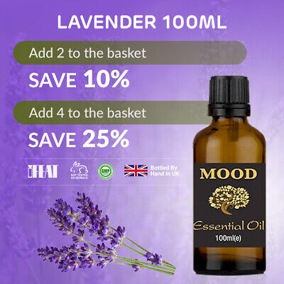 Essential Oil 100ml Lavender Pure Organic Natural Oils Aromatherapy Therapeutic