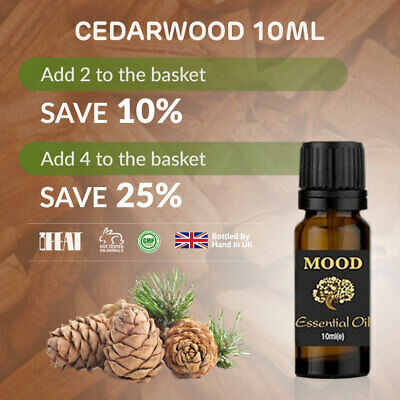 Aromatherapy Essential Oils Cedarwood Natural Pure Essential Oil Fragrances 10ml