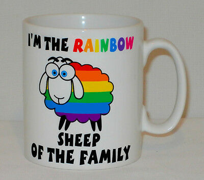 I'm The Rainbow Sheep In The Family Mug Can Personalise Gay Lesbian LGBTQ Gift