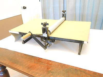 """Slab Roller for Clay, 17"""" x 25""""Heavy Duty,Portable,Tabletop,Adjustable,No Shims"""