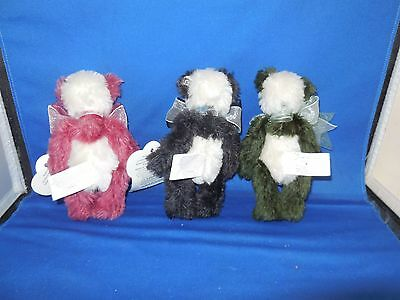 "Adorable Annette Funicello Bears- Lot of 3 ""Sushi Platter"""