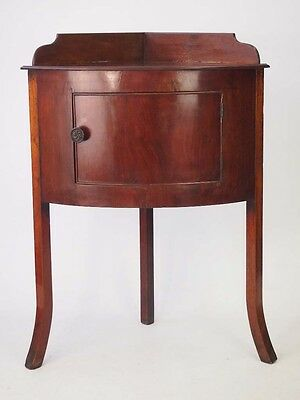 Antique Georgian Mahogany Corner Cupboard -Bowl Stand Bedside Cabinet Hall Table