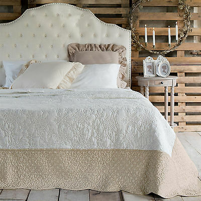 boutis matrimoniale shabby chic blanc mariclo snowflakes collection eur 142 89 picclick fr. Black Bedroom Furniture Sets. Home Design Ideas