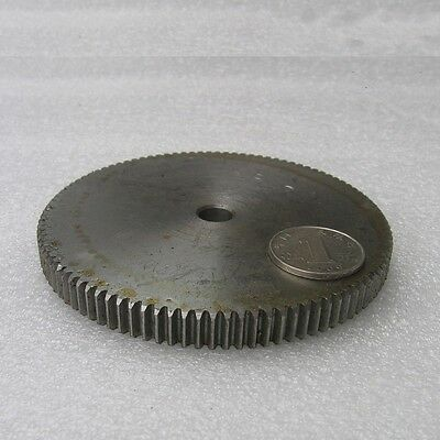 1 Mod 105T Spur Gear Steel Motor Pinion Gear Thickness 10mm Outer Dia 107mm x1Pc
