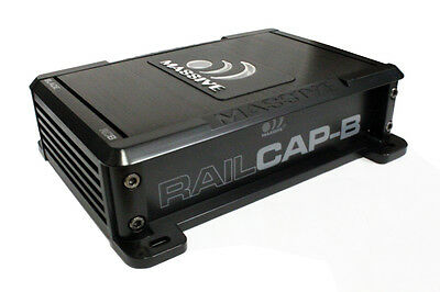 Massive Audio RCB RAILCAP-B 4 Farad Capacitor For Blade Series Amplifiers New