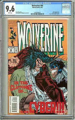 Wolverine #80 1994 CGC 9.6 White Pages 0297520016