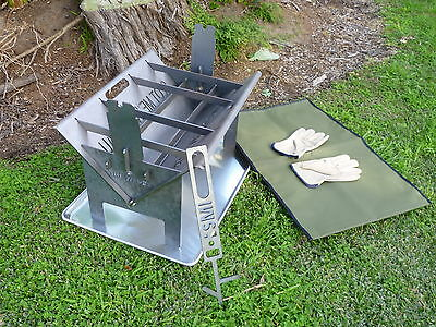 Outdoor Fire Pit BBQ Grill Garden Patio Camping Heater Fireplace Brazier-Wedge