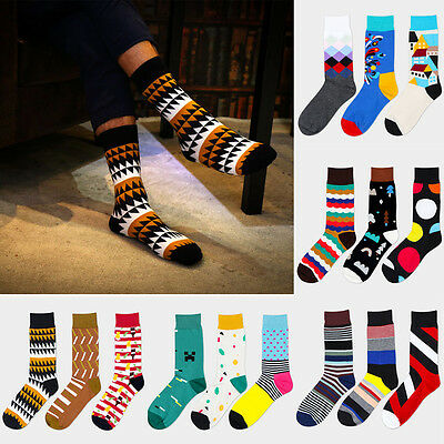 Winter Casual Cotton Socks Design Multi-Color Fashion Dress Men's Women's Socks