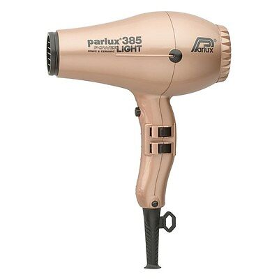 NEW Parlux 385 Power Light Ionic and Ceramic Light Gold