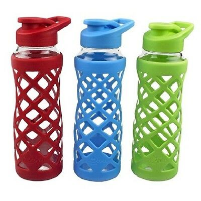 Oasis Glass Water Drink Bottle - 700ml - BPA Free - 6 Colours Available