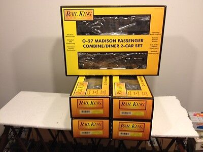 MTH Railking Set Lot of 6 Jersey Central Madison Passenger Cars