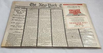 5 New York Times Commemorative Newspaper Editions from The Civil War 1863-1865