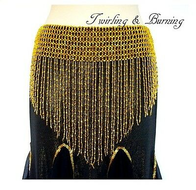 Extra Large Belly Dance Beaded Fringe Belt Hip Scarf Wrap Dancing Costume AB06