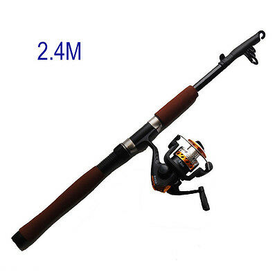 2.4m Fishing Rod and Reel Combos Portable Telescope Adjustable Rod Reel Combo