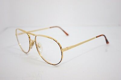 Loris Azzaro Intense 14 01 57mm 18-K Gold Havana Eyewear Eyeglass Frames