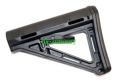 PTS Version MOE Stock For Airsoft AEG GBB (Black)