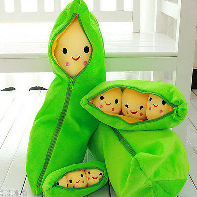 Kids Toy Emotion Cosy 3 Peas In Pod Plush Stuffed Doll Home Travel Pillow 25cm