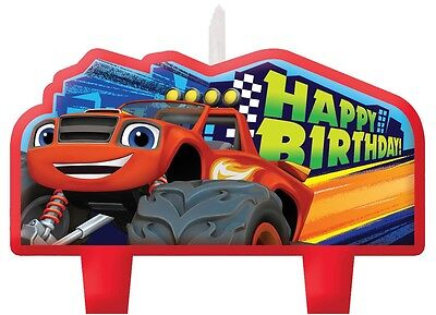 Party Supplies Birthday Blaze Monster Truck Racing Car Candles