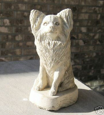 Concrete Papillon Dog Statue Or  Monument