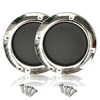 2Pcs 2'' Inch Car Circle Round Mesh Woofer Speaker Grille Protective + 4 Screws