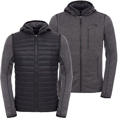 THE NORTH FACE REVERSIBLE CHARLIE - 600 DOWN insulated MEN'S FLEECE JACKET - S