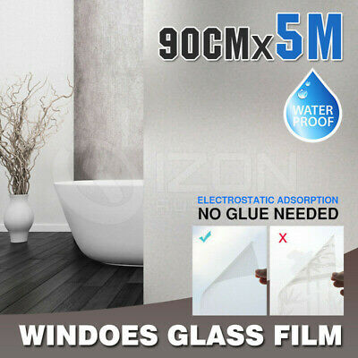 90cm*5m Vinyl Adhesive Privacy Frosted Frosting Windows Glass Film Removable