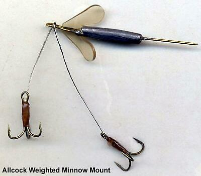"Allcock 2"" Natural Dead Bait Minnow Mount Rig"